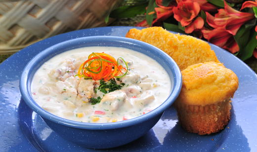 Country mullet chowder recipe